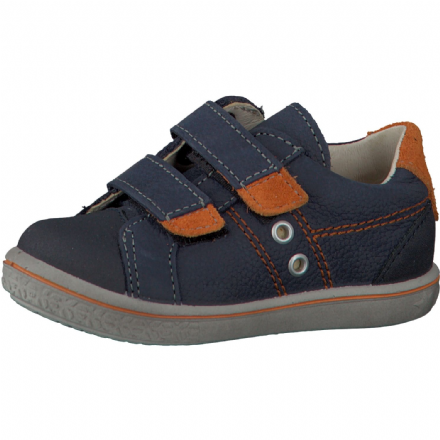 Ricosta NIPY Leather Velcro Trainers (Navy/Orange)